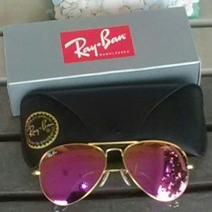 Brand New Purple RayBan Aviators 003 Never Worn